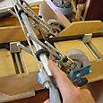 Hand cutting ebony mitres