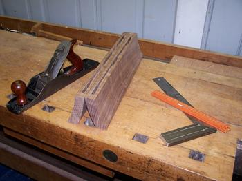 End caps, sawn to size and mortised