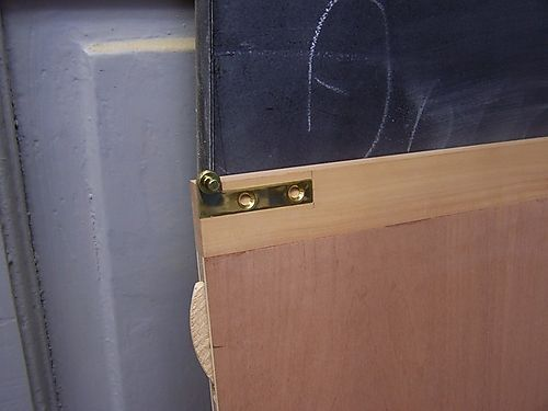 Hinge fitted