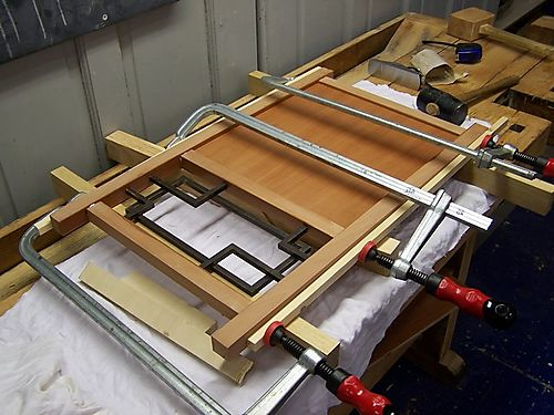 Gluing up side panels