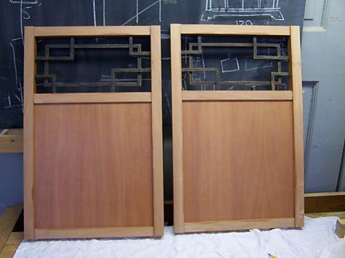 Glued up side panels