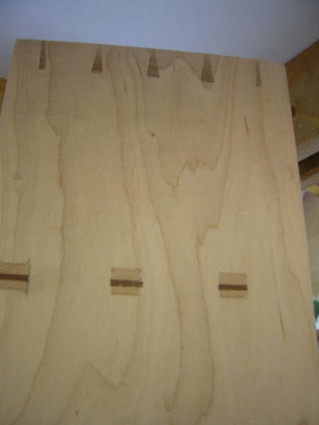 Hand cut through tenons and dovetails